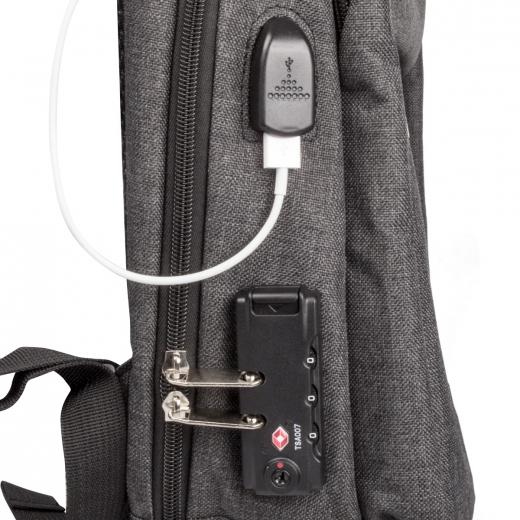 ADDIQS Rucksack + Schloss & USB